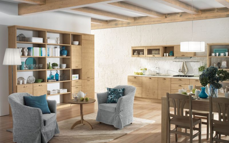 Linea 3 mobili – Caldo Legno – Cucine 3